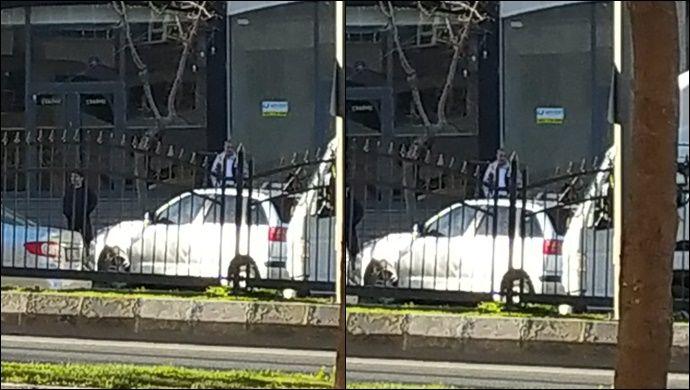 İpekyol'da Hızını Alamayan Otomobil, Refüje Çıktı