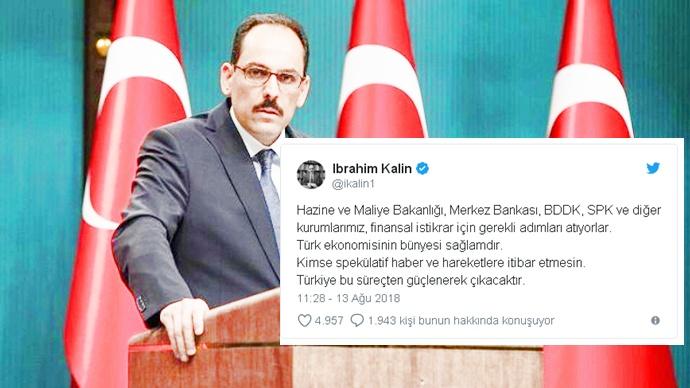 Kalın: Türk ekonomisinin bünyesi sağlam
