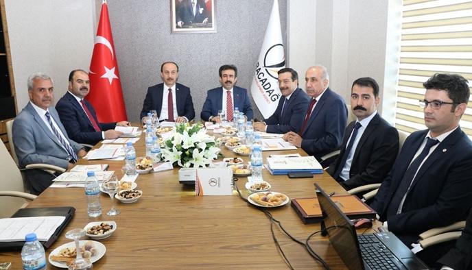 Karacadağ kalkınma ajansı yönetim kurulu Vali erin başkanlığında toplandı