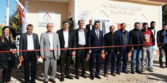 Karaköprü Ali Baba Muhtar Evi Açılışı Yapıldı
