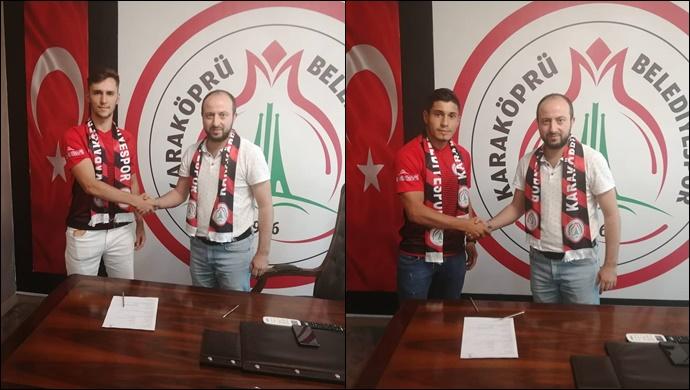 Karaköprü Belediyespor'da 2 transfer! İmzalar atıldı...