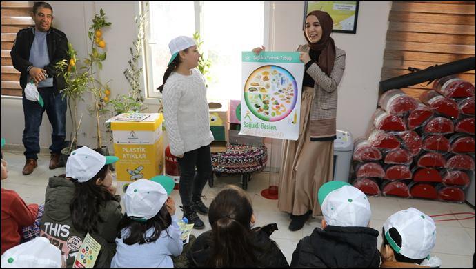Karaköprü'de Çocuklara Çevre Bilinci Eğitimi (VİDEOLU)