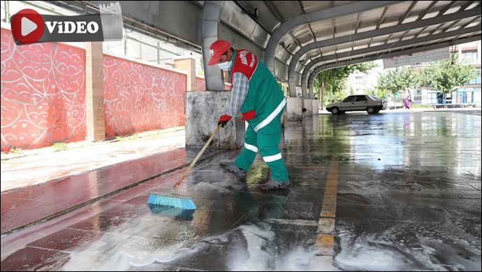 Karaköprü'de, Kurban Kesim Sonrası Yoğun Temizlik