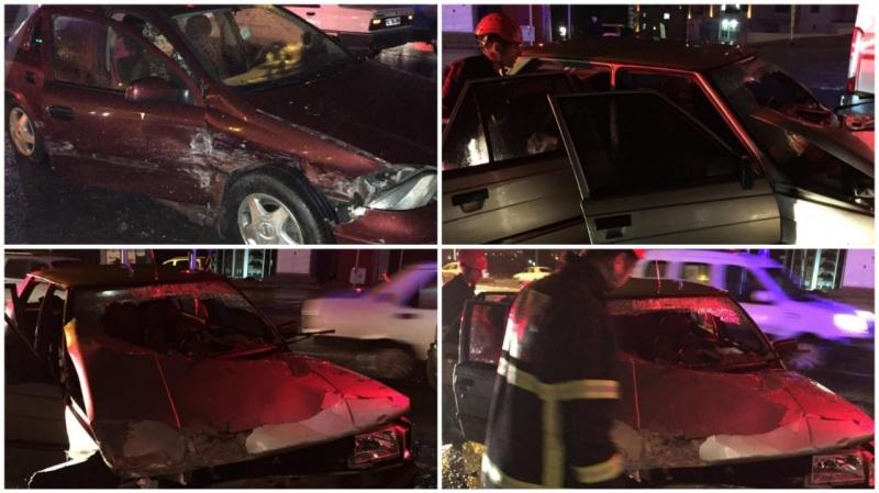 Karaköprü'de Trafik Kazası:3 Yaralı-(Videolu)