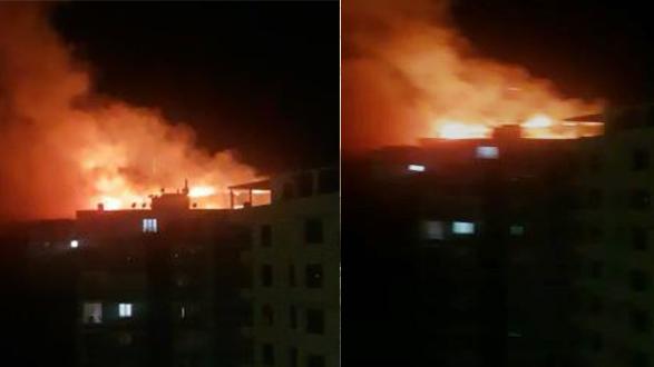 Karaköprü'de yangın …