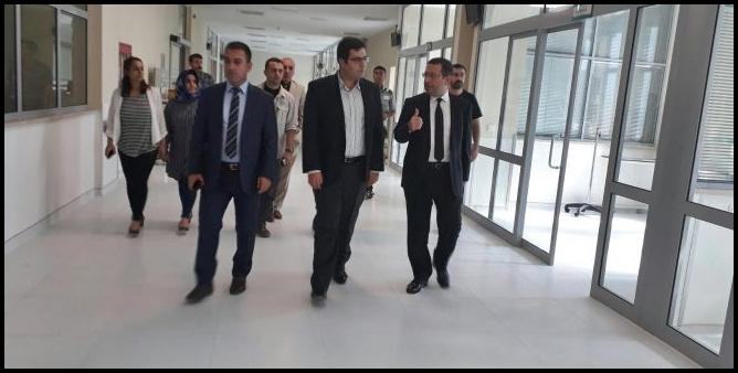 Kaymakam Sinanoğlu,Yeni Hastanede İncelemelerde bulundu