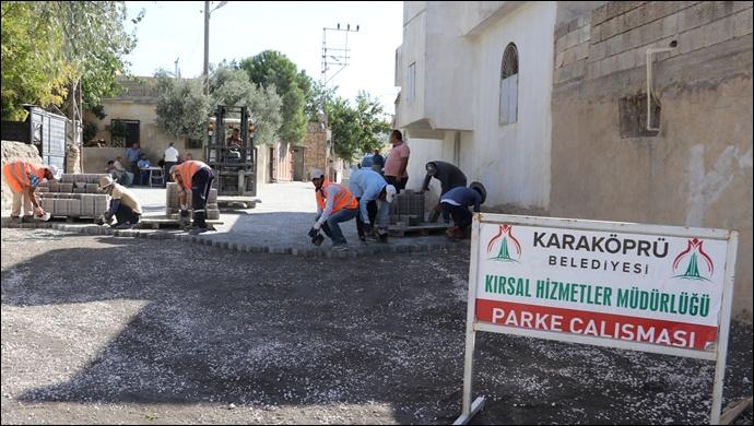 Kırkpınar'da Köy İçi Yollara Kilitli Parke Döşeniyor