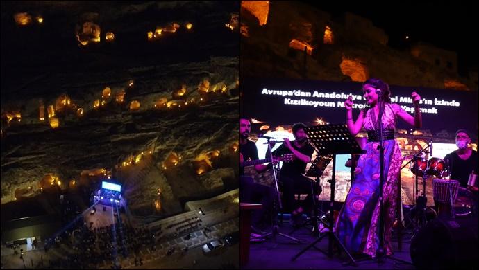 Kızılkoyun Nekropolü'nde Panel Sonrası Muhteşem Konser-(VİDEO)