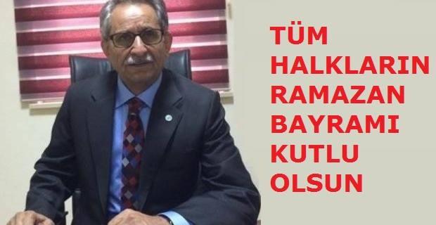 Kızıltepe Çev-Gön Başkanı Çakar'dan Bayram mesajı.