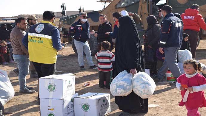 Konyalı Hayırseverlerin Yardımları Resulayn'a Ulaştı-(VİDEO)