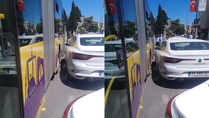 Körüklü otobüsler çarşıda dönemez oldu!
