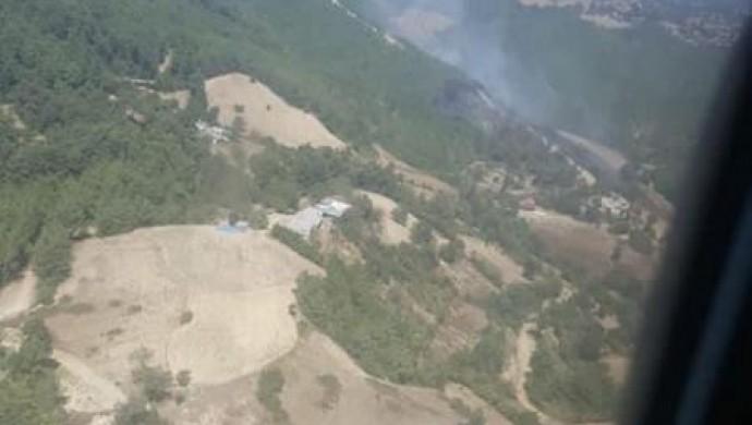 Kozan'da 2 hektarlık alan yandı