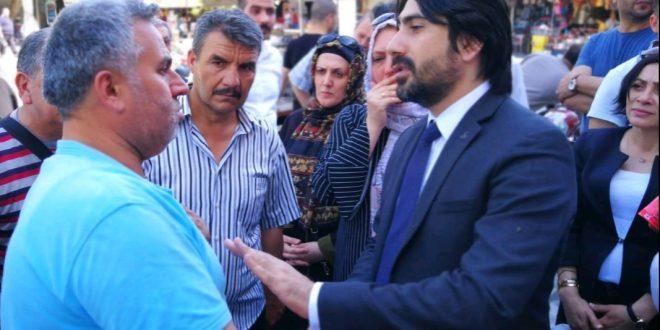 MHP Adayı Yılmaz, Çarşı Esnafını Gezdi, Destek İstedi