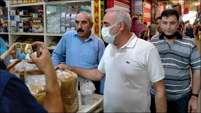 Milletvekili Aydınlık ve CHP Heyetin'den Tütüncü Esnafına Destek