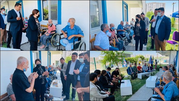 MKYK Üyesi Polat ve İlçe Başkanı Ağan'dan Babalar Günü'nde Anlamlı Ziyaret
