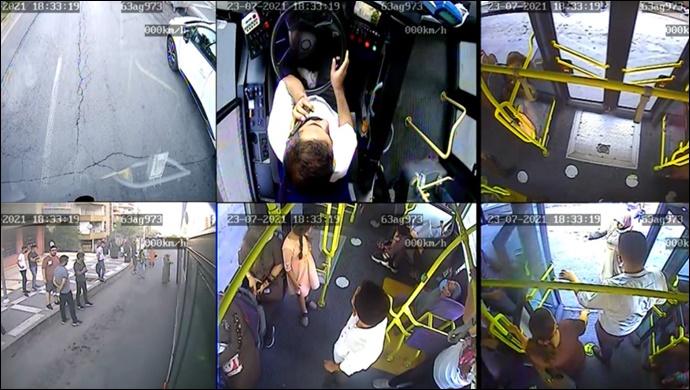 Otobüste Fenalaşan Vatandaş Hastaneye Ulaştırıldı-(VİDEO)