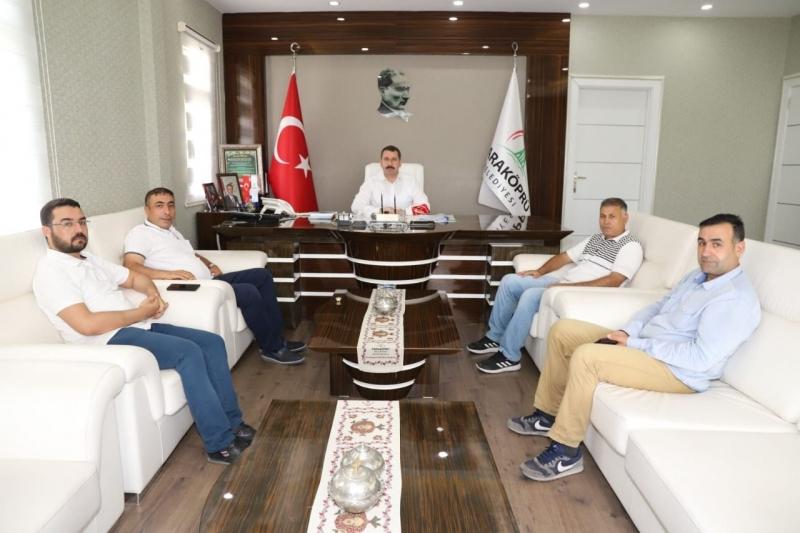 RHA Ajans'tan Karaköprü Belediye Başkanı Baydilli'ye ziyaret