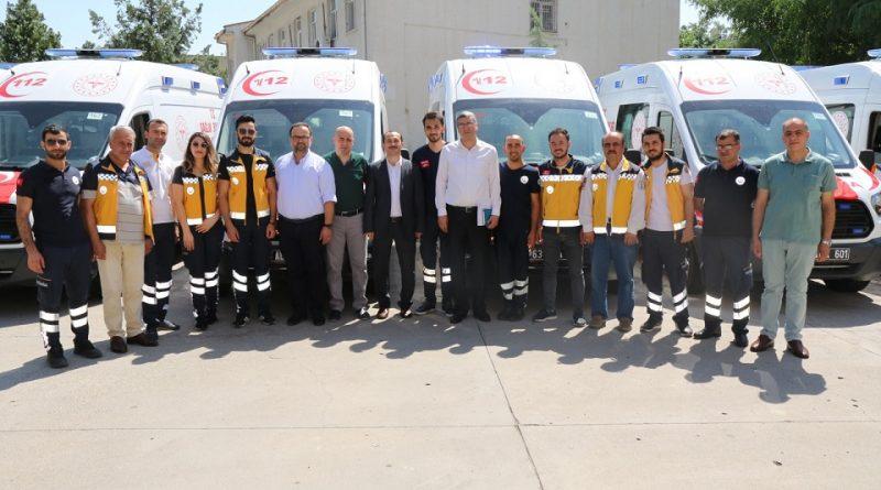 Sağlık Bakanlığı, Urfa'ya tam donanımlı 8 ambulans gönderdi