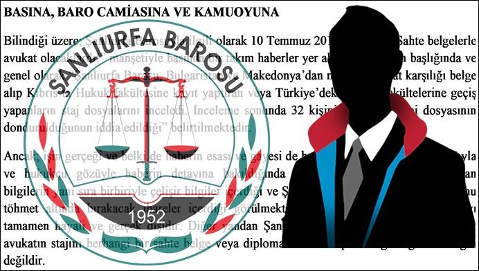Sahte Belgelerle Avukat Olacaklardı' iddiasına Şanlıurfa Barosu'ndan cevap