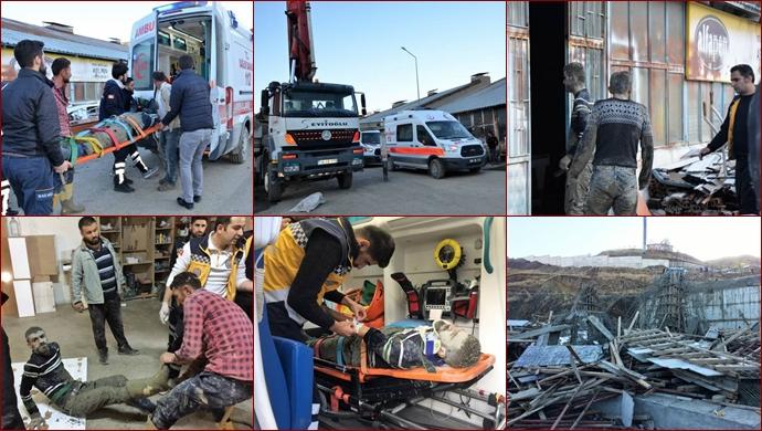 Sanayi Sitesi'nde inşaat çöktü: 2 yaralı