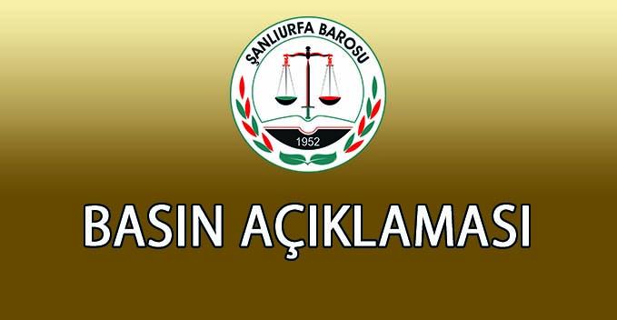 Şanlıurfa Barosu Avukatlara Saldırı Sistematik Bir Hal Almış