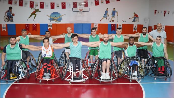 Şanlıurfa büyükşehir belediyesi tekerlekli basketbol takımı şampiyonluk yolunda-(VİDEO)