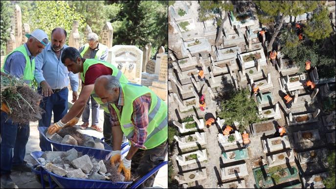 Şanlıurfa Mezarlıkları Kurban Bayramına Hazır-(VİDEO)