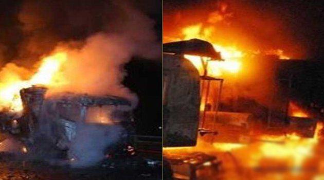 Şanlıurfa TMO'da yangın çıktı
