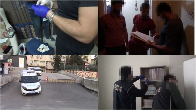 Şanlıurfa ve İlçelerinde DEAŞ Operasyonu: 5 Gözaltı-(VİDEO)