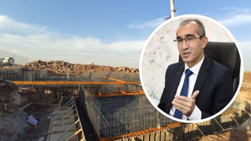 Şanlıurfa Viranşehir içme suyu isale hattı inşaatı işinde çalışmalar devam ediyor