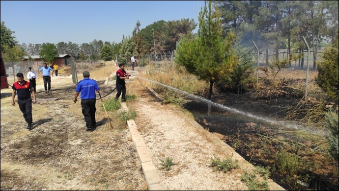 Şanlıurfa Yarı Açık Cezaevi'nde yangın: İtfaiye müdahale etti