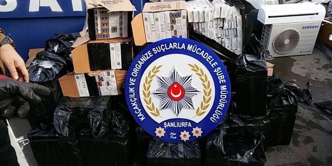 Şanlıurfa'da 24 Bin 450 Paket kaçak sigara ele geçirildi
