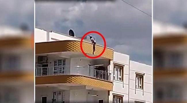 Şanlıurfa'da 3 katlı binanın çatısına çıkan genç intihar etmek istedi