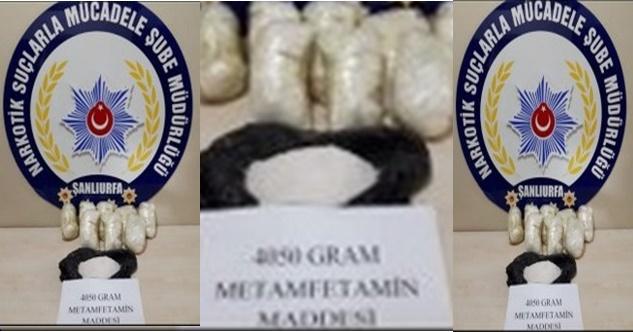 Şanlıurfa'da 4 Kilo Metamfetamin Ele Geçirildi:2 Gözaltı