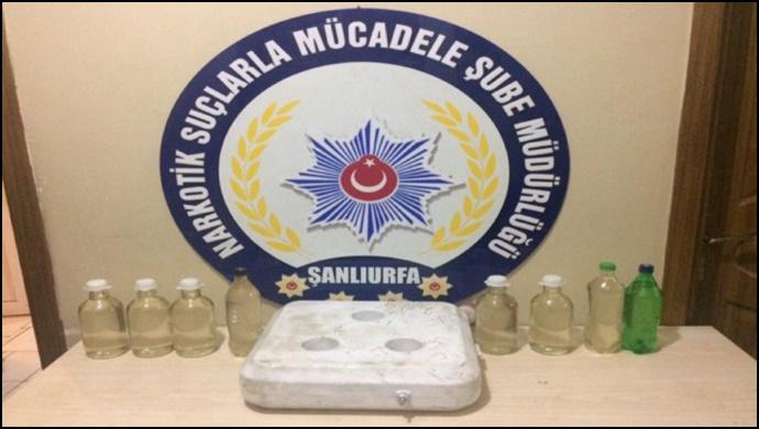Şanlıurfa'da 9 Kilo 500 Gram Sıvı Metamfetamin Madde Ele Geçirildi-(Videolu)