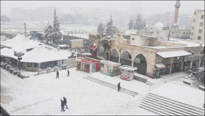 Şanlıurfa'da bugün de yer yer yoğun kar yağışı bekleniyor