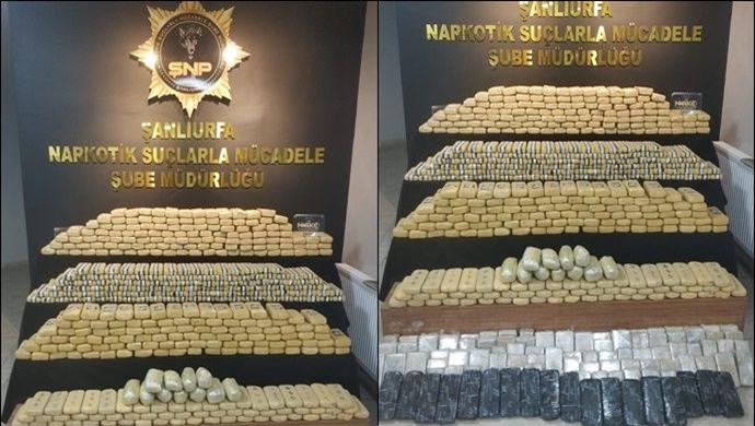 Şanlıurfa'da Durdurulan TIR'da 275 Kilo uyuşturucu ele geçirildi: 2 gözaltı