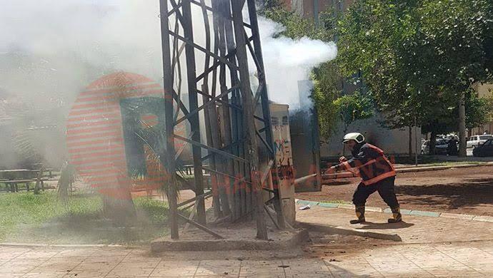 Şanlıurfa'da eski trafo bomba gibi patladı-(VİDEO)