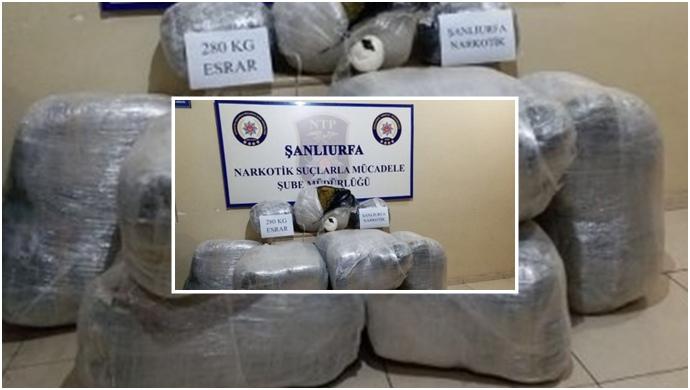Şanlıurfa'da Ev Eşyası Arasında 280 Kilo Esrar Sevkiyatı: 2 Tutuklama