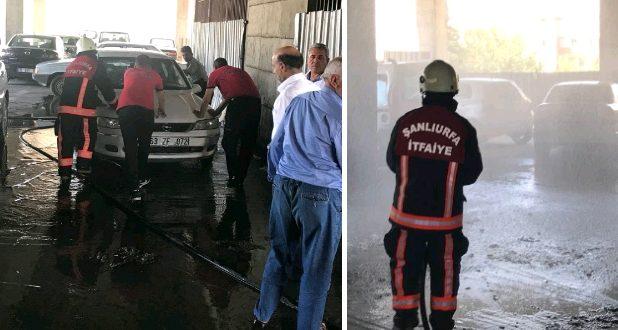 Şanlıurfa'da Gaz Sızdıran Araca İtfaiye Müdahale Etti… Facia Önlendi