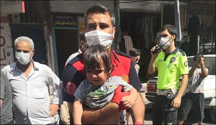 Şanlıurfa'da havasız kalan çocuk kurtarıldı