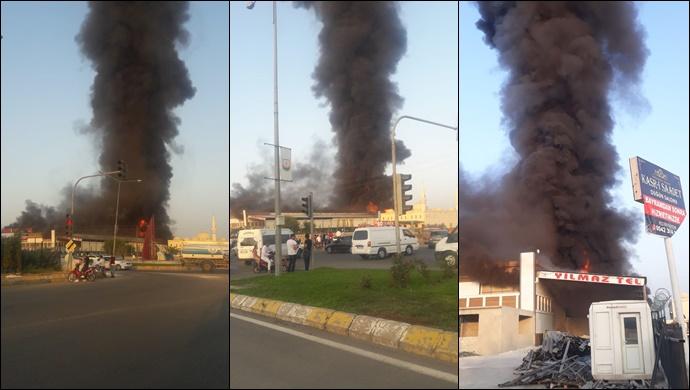 Şanlıurfa'da İşyeri Yangını (VİDEOLU)