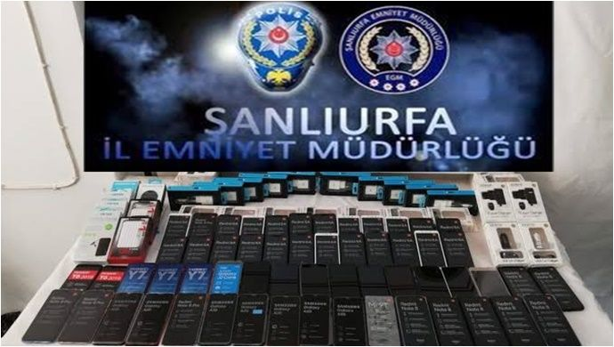 Şanlıurfa'da Kaçak Cep Telefonu Operasyonu..