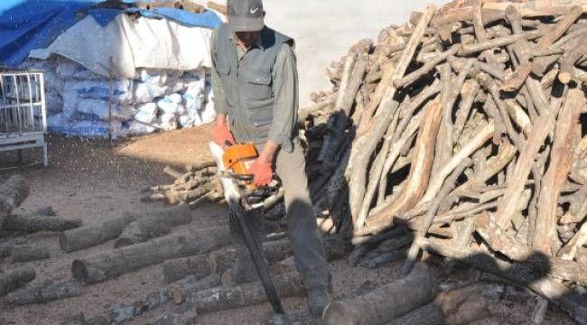 Şanlıurfa'da kara elmas ve odunun satışı başladı