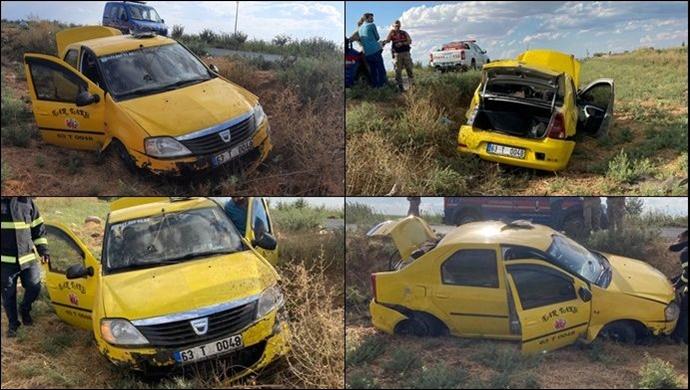 Şanlıurfa'da Kontrolden Çıkan otomobil şarampole devrildi:2 yaralı