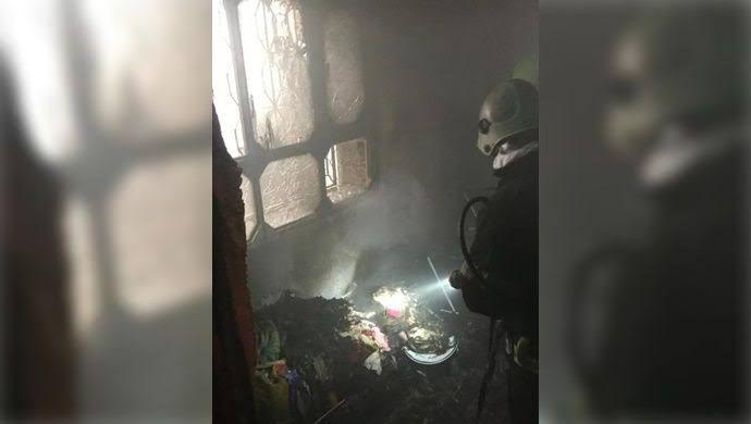 Şanlıurfa'da mesken yangını: İtfaiye müdahale etti-(VİDEO)