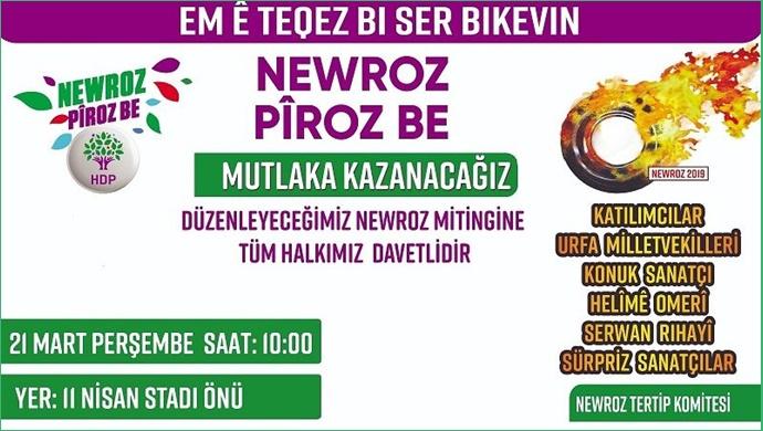 Şanlıurfa'da 'Nevroz' programı düzenlenecek
