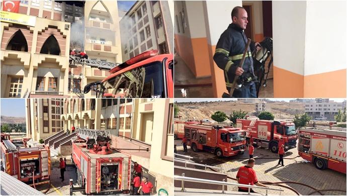 Şanlıurfa'da Okulda Yangın….