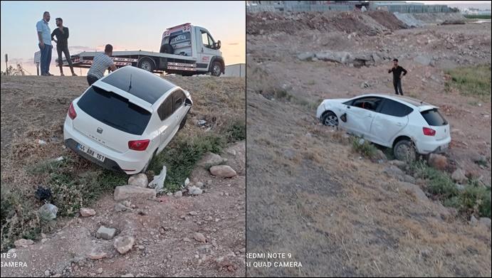 Şanlıurfa'da otomobil tarlaya uçtu! Sürücü yaralandı-(VİDEO)