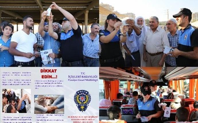 Şanlıurfa'da Polisten Vatandaşlara Broşürlü Bilgilendirme